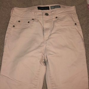 Aeropostale high waisted ankle jeggings light pink